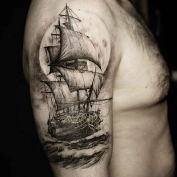 significato tatuaggio veliero immagini tatuaggi barche. Black Bedroom Furniture Sets. Home Design Ideas