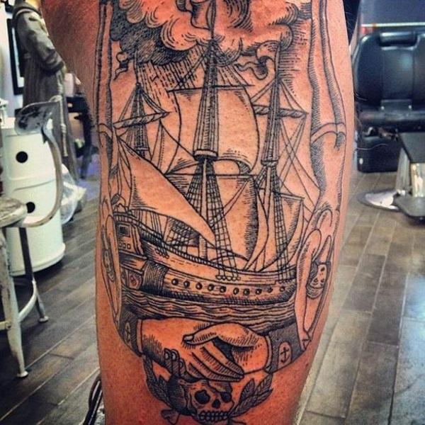 Famoso SIGNIFICATO TATUAGGIO VELIERO - Immagini Tatuaggi Barche LO53