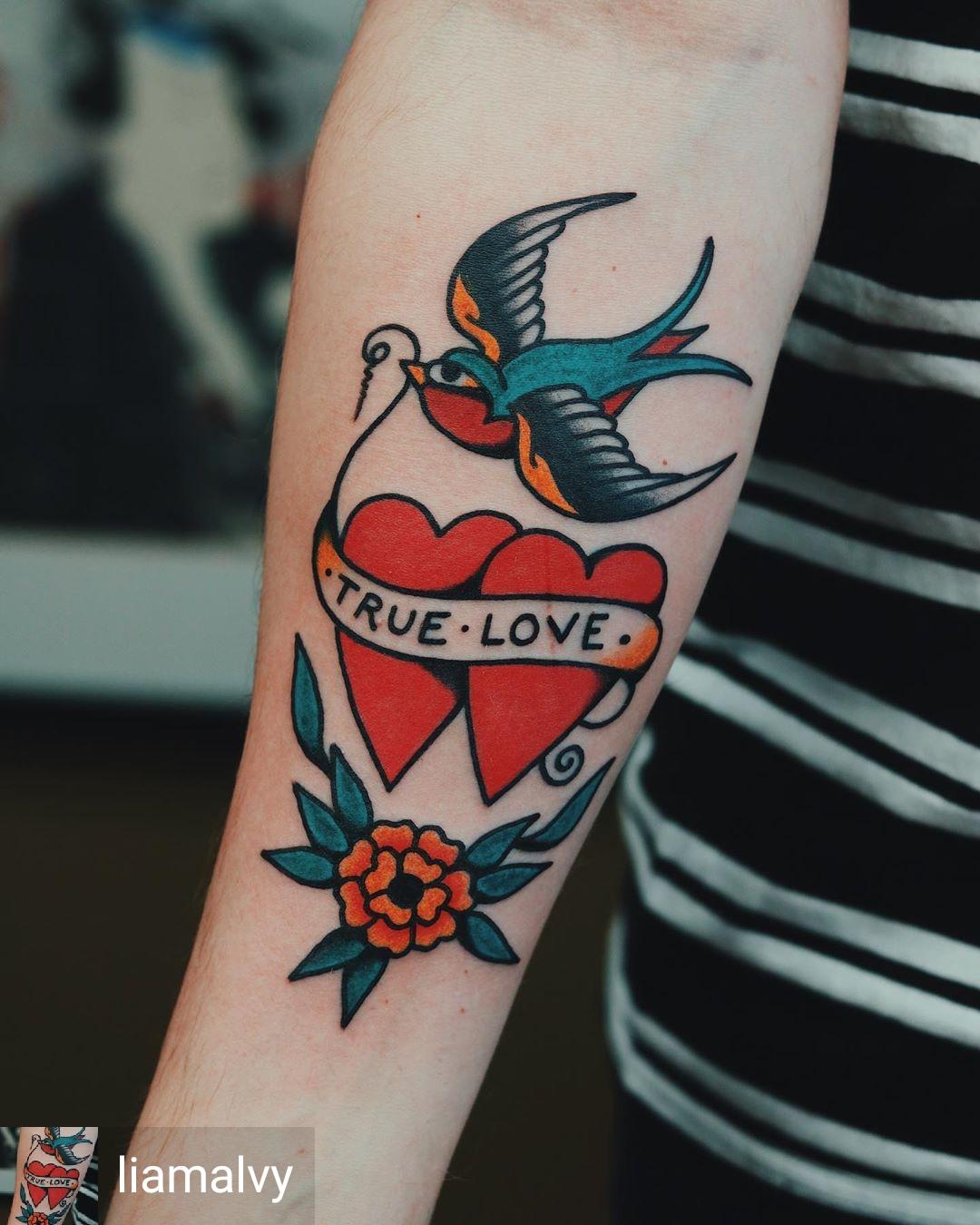 cuore tattoo old school