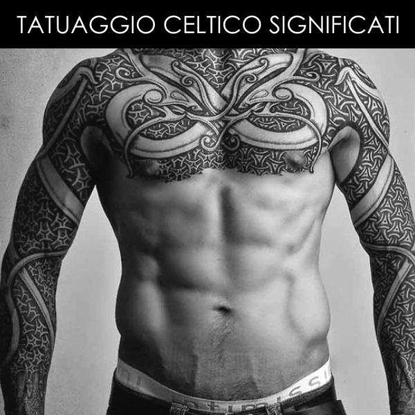 Tatuaggio Celtico tutto braccio e petto