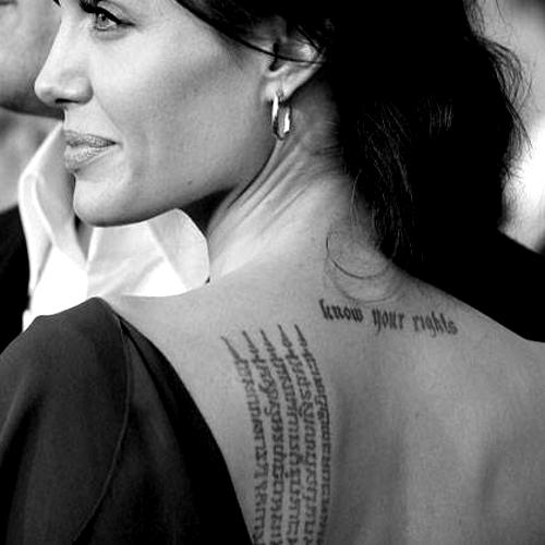 tatuaggio yak sant angelina jolie