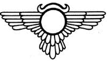 tatuaggio egizio disco alato