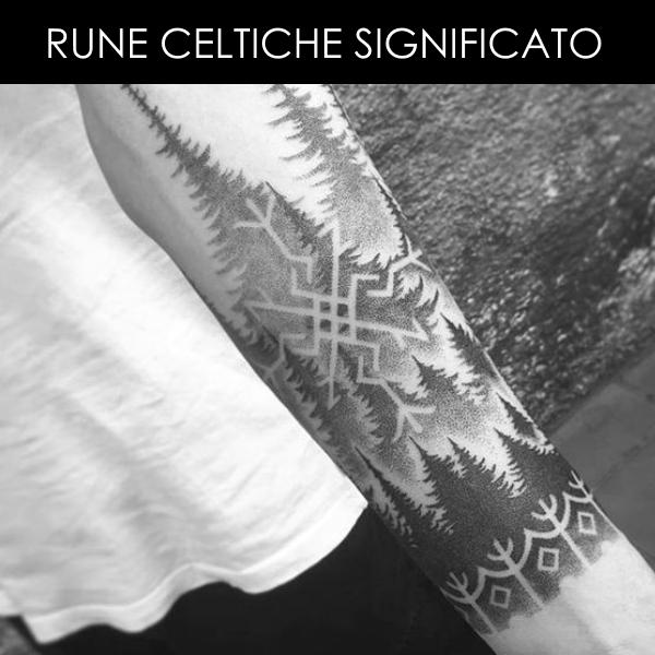 Rune Celtiche tattoo braccio