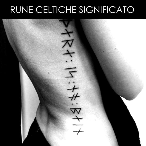 Rune Celtiche TATTOO DONNA