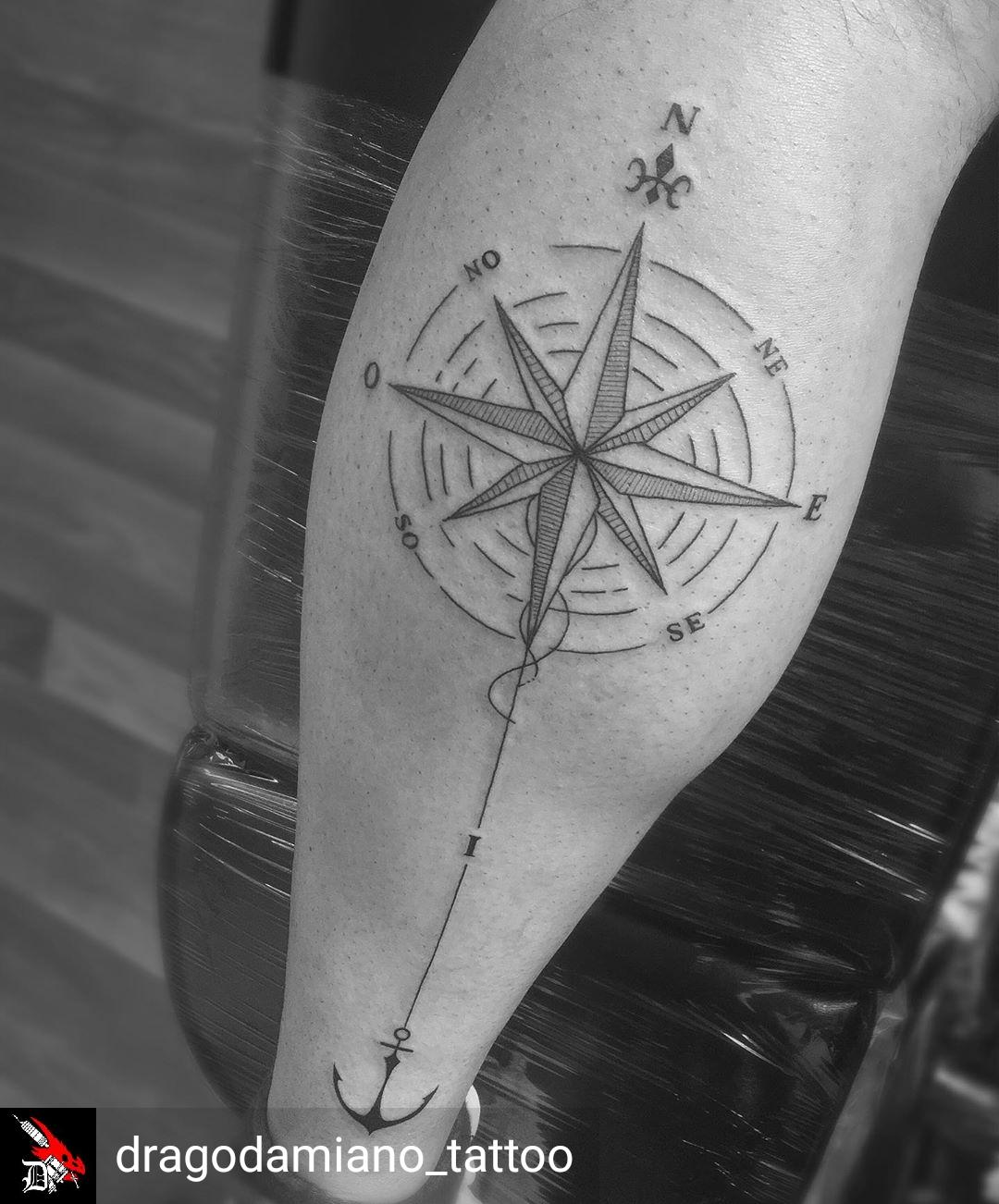Rosa dei venti Tattoo