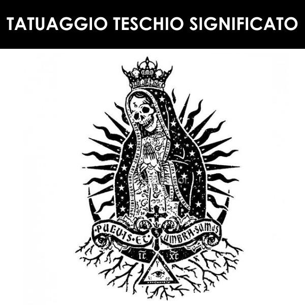 Tatuaggio Teschio santa muerte