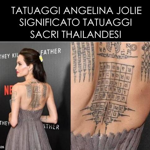 Tatuaggi Angelina Jolie