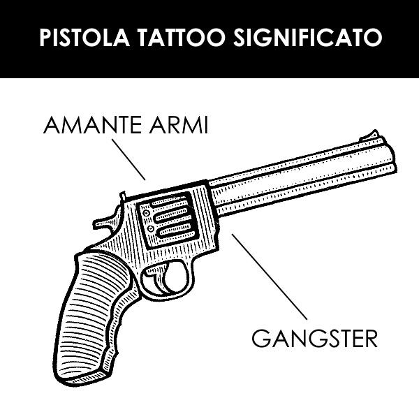 tatuaggio pistola