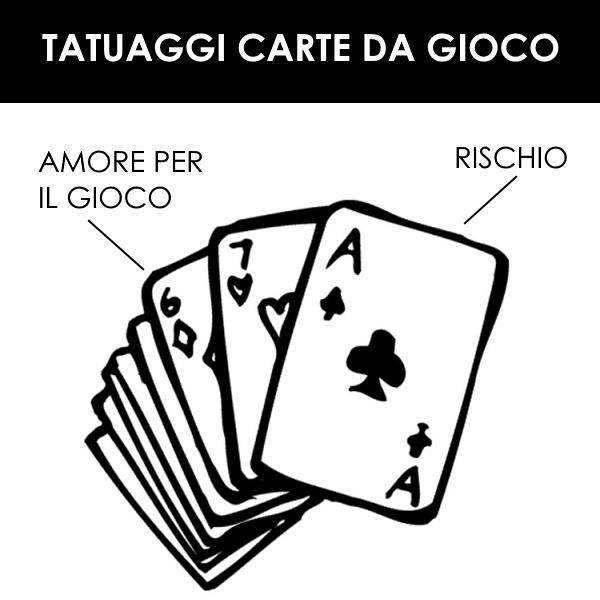 Tatuaggi carte da gioco