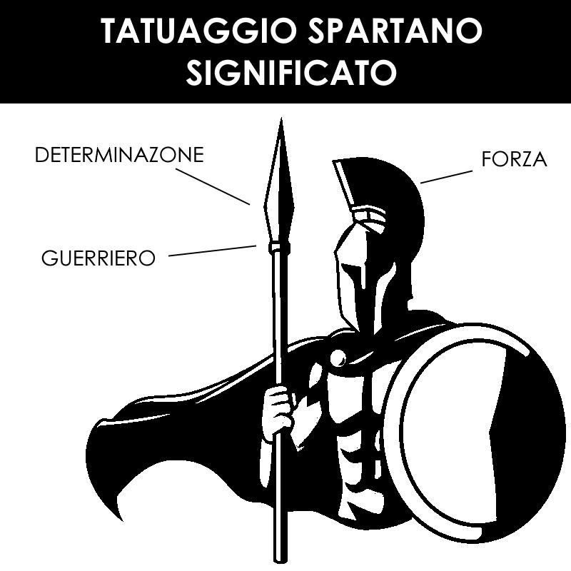 tatuaggio spartano